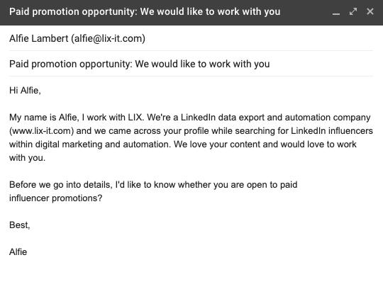 LinkedIn Influencer Marketing: Message
