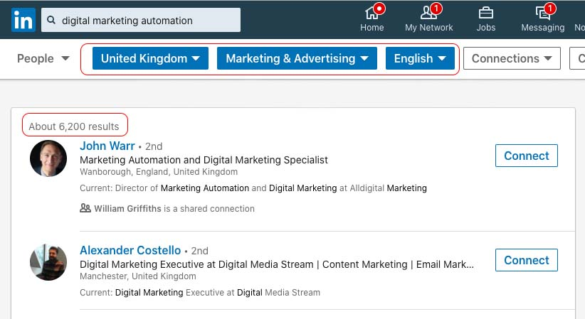 LinkedIn Influencer Marketing: Searching