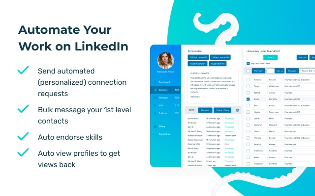 LinkedIn Helper Octopus CRM