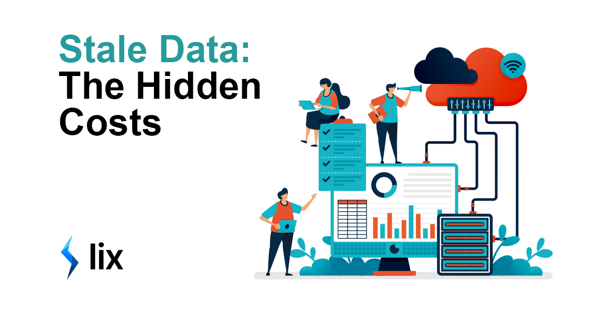 Stale Data - cover image depicting characters working with data